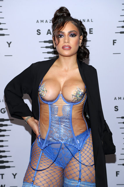 In this image released on October 1, Miss 5th Ave attends Rihanna's Savage X Fenty Show Vol. 2 presented by Amazon Prime Video at the Los Angeles Convention Center in Los Angeles, California; and broadcast on October 2, 2020. (Photo by Jerritt Clark/Getty Images for Savage X Fenty Show Vol. 2 Presented by Amazon Prime Video)