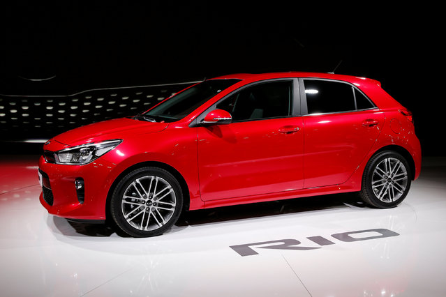 The Kia Rio is displayed on media day at the Paris auto show, in Paris, France, September 29, 2016. (Photo by Benoit Tessier/Reuters)
