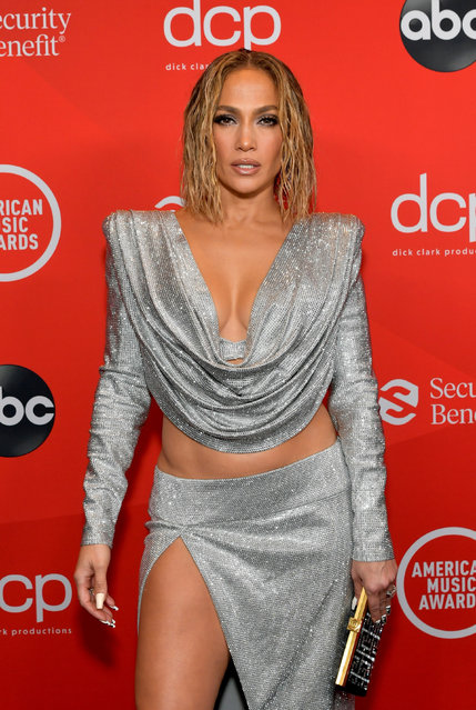 In this image released on November 22, Jennifer Lopez attends the 2020 American Music Awards at Microsoft Theater on November 22, 2020 in Los Angeles, California. (Photo by Emma McIntyre/AMA2020/Getty Images for dcp)