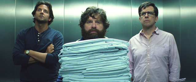 "May 24: ""The Hangover Part III"". Bradley Cooper, from left, Zach Galifianakis and Ed Helms star in ""The Hangover Part III"". (Photo by Warner Bros/MCT)"