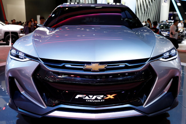 The Chevrolet FNR-X concept car is displayed during a media preview at the Auto China 2018 motor show in Beijing, China on April 25, 2018. (Photo by Damir Sagolj/Reuters)