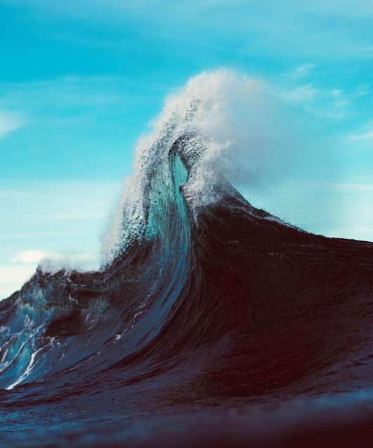 """Ryan said: """"I am looking for something different other than standard wave shots, so I really push myself to do what it takes to get a cool shot"""". (Photo by Ryan Pernoski/Caters News Agency)"""