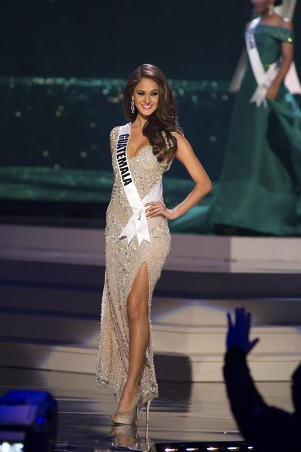 Ana Luisa Montufar, Miss Guatemala 2014 competes on stage in her evening gown during the Miss Universe Preliminary Show in Miami, Florida in this January 21, 2015 handout photo. (Photo by Reuters/Miss Universe Organization)