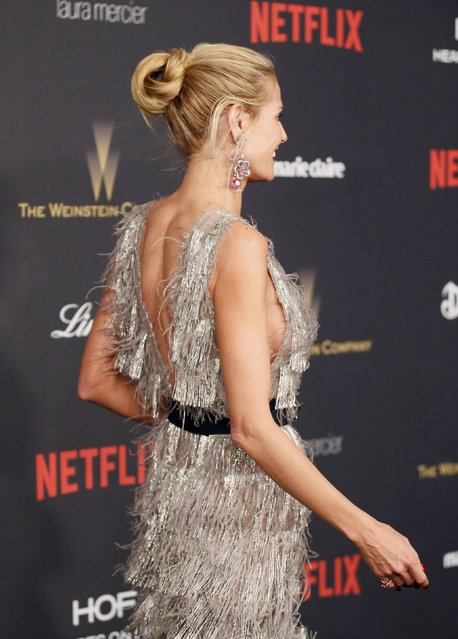Heidi Klum arrives at The Weinstein Company & Netflix Golden Globe After Party in Beverly Hills, California January 10, 2016. (Photo by Danny Moloshok/Reuters)