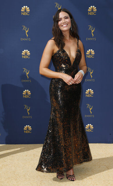 Mandy Moore arrives at the 70th Primetime Emmy Awards on Monday, September 17, 2018, at the Microsoft Theater in Los Angeles. (Photo by Kyle Grillot/Reuters)