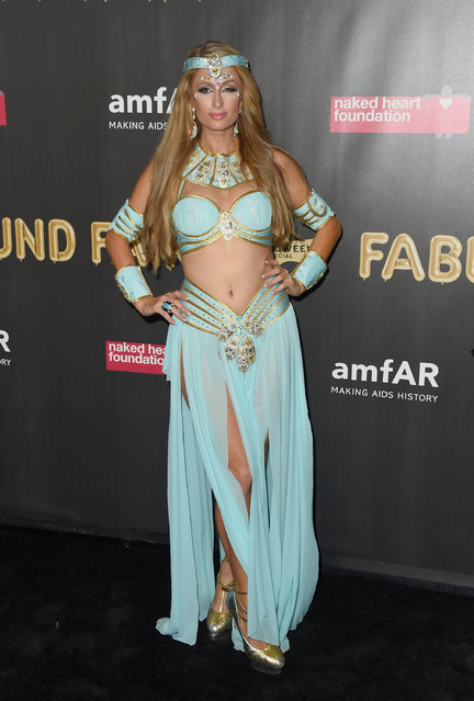 Paris Hilton attends the 2017 amfAR Fabulous Fund Fair at Skylight Clarkson Sq on October 28, 2017 in New York City. (Photo by Nicholas Hunt/Getty Images)