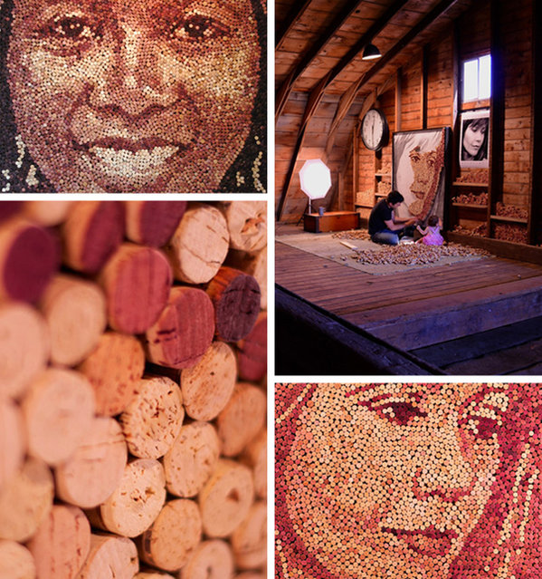 Wine Cork Portraits By Scott Gundersen