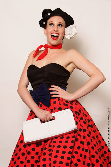Pinup girls poses backstage during the Miss Pin Up NSW competition