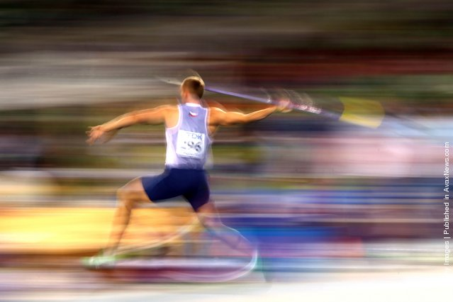 Jakub Vadlejch of Czech Republic competes in the men's javelin throw qualification round during day six of the 13th IAAF World Athletics Championships