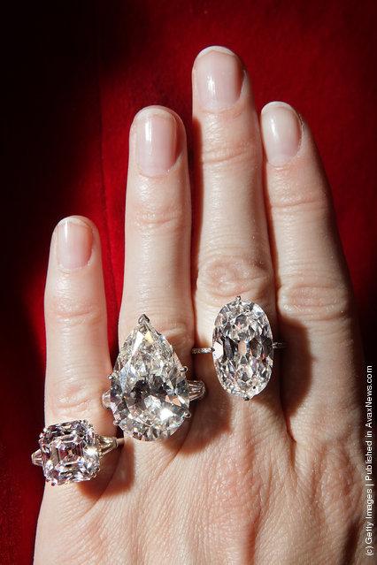 A collection of rare diamonds