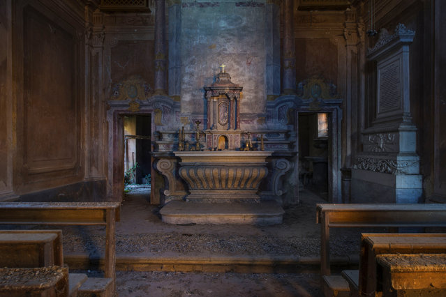Abandoned alter Castillio. (Photo by Gaz Mather/Cater News)