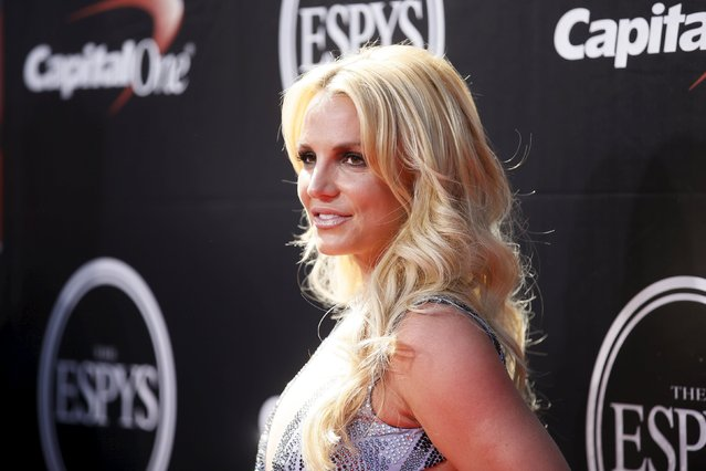 Singer Britney Spears arrives for the 2015 ESPY Awards in Los Angeles, California July 15, 2015. (Photo by Danny Moloshok/Reuters)