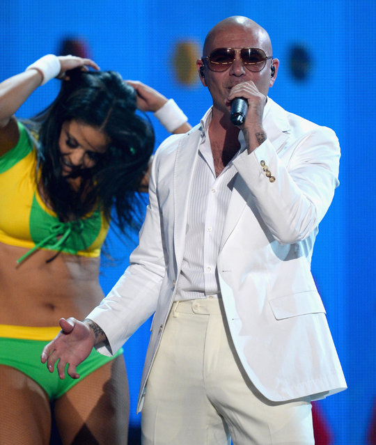 Recording artist Pitbull performs onstage during the 2014 Billboard Music Awards at the MGM Grand Garden Arena on May 18, 2014 in Las Vegas, Nevada. (Photo by Ethan Miller/Getty Images)