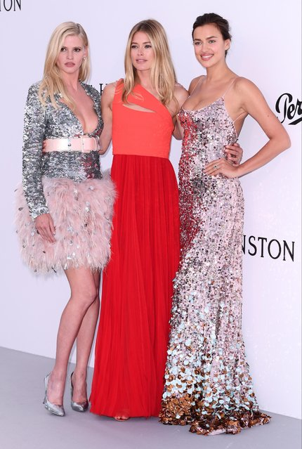 (L to R) Lara Stone, Doutzen Kroes and Irina Shayk arrive at the amfAR Gala Cannes 2017 at Hotel du Cap-Eden-Roc on May 25, 2017 in Cap d'Antibes, France. (Photo by David Fisher/Rex Features/Shutterstock)