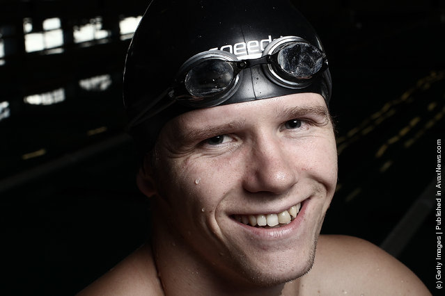 Paralympic swimmer Cameron Leslie poses for portrait at the Millennium Pool