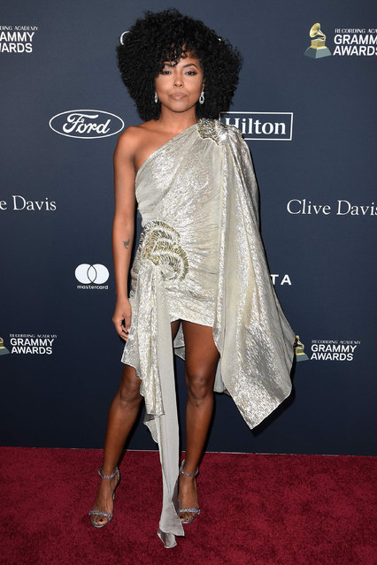US actress Adrienne Warren arrives for the Recording Academy and Clive Davis pre-Grammy gala at the Beverly Hilton hotel in Beverly Hills, California on January 25, 2020. (Photo by Mark Ralston/AFP Photo)