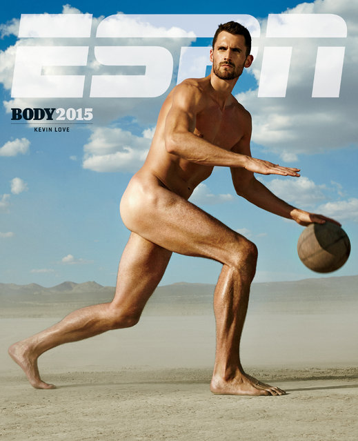 Kevin Love in ESPN's The Body Issue 2015. ESPN The Magazine's The Body Issue set out seven years ago with one mission: to celebrate and explore the athletic form through powerful images and interviews. The cornerstone of each annual issue is The Bodies We Want photo portfolio, which features roughly 20 of the world's most elite athletes posing nude. (Photo by Richard Phibbs for ESPN The Magazine)