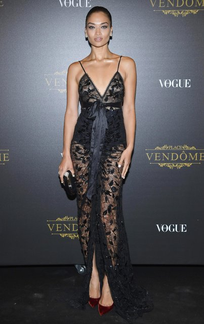 Jasmine Sanders attends the Irving Penn Exhibition Private Viewing Hosted by Vogue as part of the Paris Fashion Week Womenswear Spring/Summer 2018 on October 1, 2017 in Paris, France. (Photo by Pascal Le Segretain/Getty Images)
