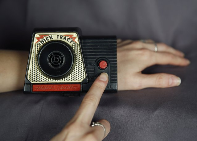 A 1960's era Dick Tracy wrist radio is seen in District Heights, Maryland September 8, 2014. With the expected release this week of the Apple iWatch, which would be the company's first new product since 2010, Tracy's two-way wrist radio from the 1940's could be seen by some as a predecessor to today's smartwatch. Tracy wrist radio courtesy of the National Law Enforcement Museum. (Photo by Gary Cameron/Reuters)