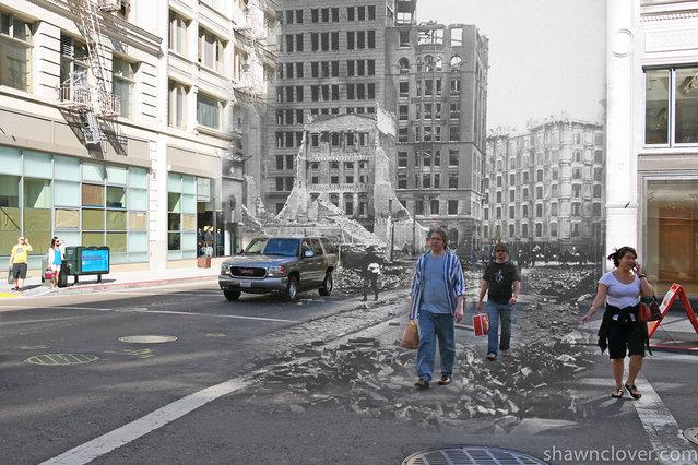 San Francisco Earthquake Mashup 1906 – 2010 by Shawn Clover