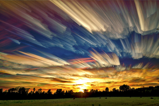 """Smeared Sky Sunset"". (Matt Molloy)"