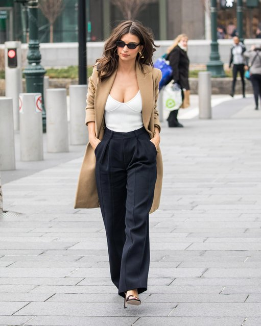 Emily Ratajkowski seen out and about in Manhattan on April 10, 2018 in New York City. (Photo by Splash News and Pictures)