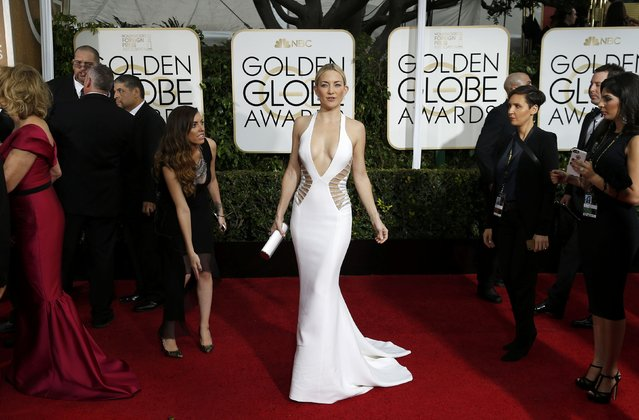 Actress Kate Hudson arrives at the 72nd Golden Globe Awards in Beverly Hills, California January 11, 2015. (Photo by Mario Anzuoni/Reuters)