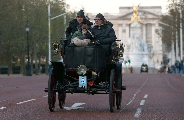Participants drive their 1900 Cleveland Electric along the Mall during the annual London to Brighton veteran car run in London, Britain November 6, 2016. (Photo by Neil Hall/Reuters)