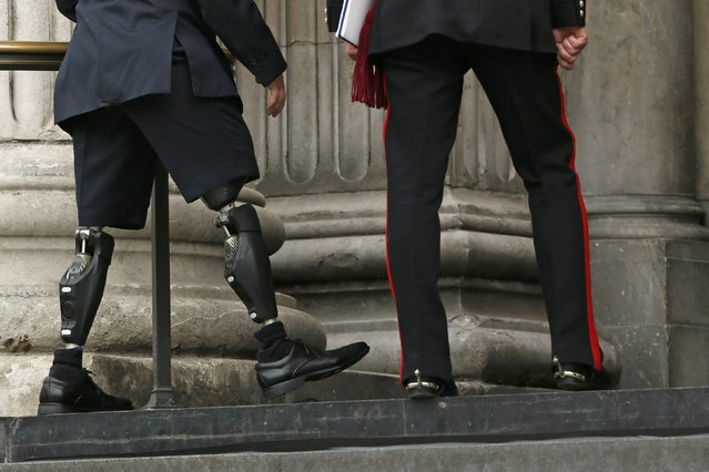 Guests arrive for the Afghanistan service of commemoration at St Paul's Cathedral in London March 13, 2015. (Photo by Stefan Wermuth/Reuters)