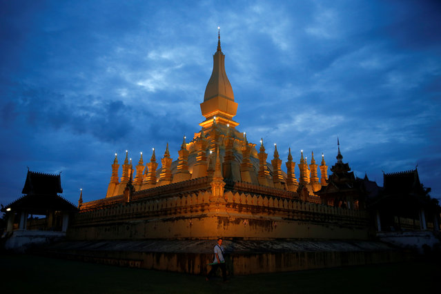 LAOS: Pha That Luang stupa is seen in Vientiane ahead of the ASEAN Summit, Laos September 5, 2016. (Photo by Jorge Silva/Reuters)