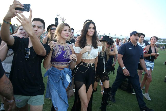 Kendall Jenner attends the 2015 Coachella Music and Arts Festival on Saturday, April 11, 2015, in Indio, Calif. (Photo by Rich Fury/Invision/AP Photo)