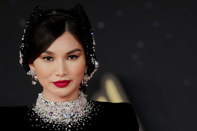 """English actress and model Gemma Chan attends the """"Eternals"""" red carpet during the 16th Rome Film Fest 2021 on October 24, 2021 in Rome, Italy. (Photo by Massimo Valicchia/NurPhoto/Rex Features/Shutterstock)"""