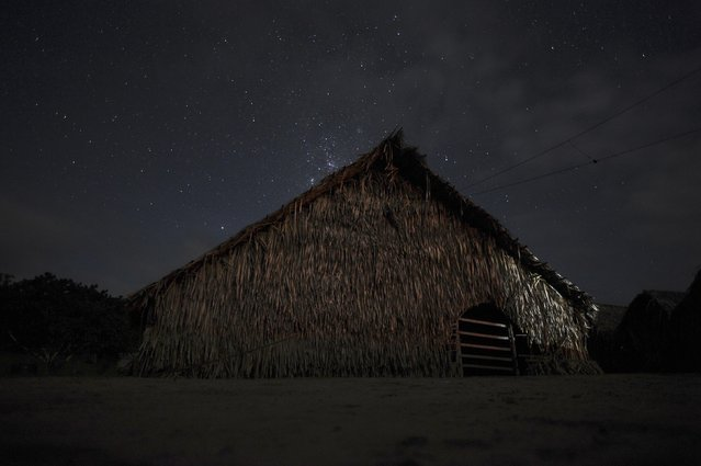 A view of the Shubua, or house of prayer, in the Huni Kui tribe's village of Me Txanava in Brazil's northwestern Acre state, March 6, 2014. (Photo by Lunae Parracho/Reuters)