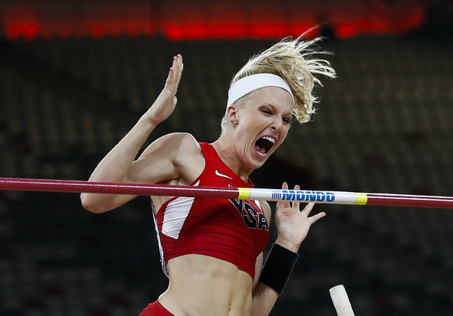 Sandi Morris of the U.S. competes in the women's pole vault final during the 15th IAAF World Championships at the National Stadium in Beijing, China, August 26, 2015. (Photo by Phil Noble/Reuters)