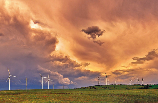 October. Changing skies above Capital windfarm near Bungendore, NSW. (Photo by Seenivasan Kumaravel/Australian Bureau of Meteorology)