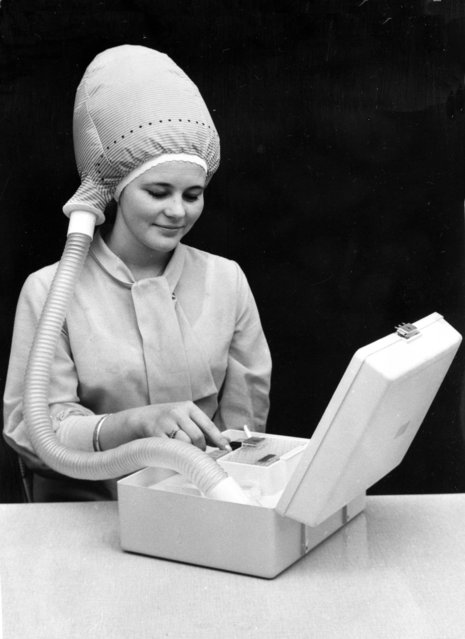 Handout photo issued by Easyart of a prototype portable hairdryer as an archive of weird and wacky innovations has been unearthed by an amateur historian as he trawled through a collection of images spanning the last 100 years. (Photo by Easyart/PA Wire)