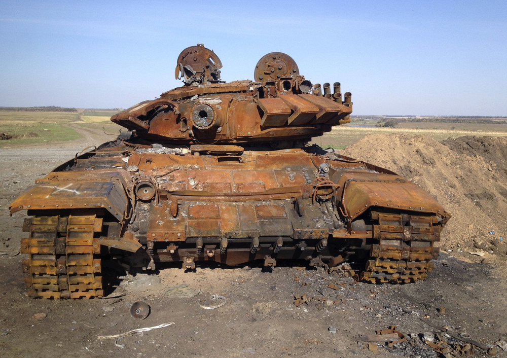 Charred Tanks Point to Russia?