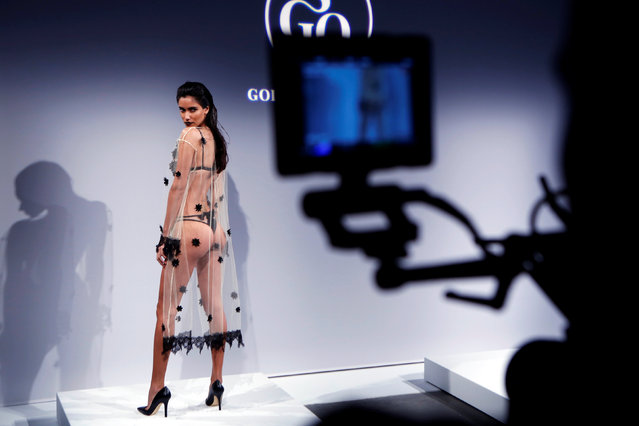 A model presents creations from God Save Queens Spring/Summer 2017 collection during New York Fashion Week in the Manhattan borough of New York, U.S., September 7, 2016. (Photo by Lucas Jackson/Reuters)