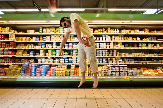 """Jumpology"". ""Morning Shopping"". (Photo by Éole Wind)"