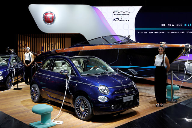 A Fiat 500 Riva is displayed on media day at the Paris auto show, in Paris, France, September 29, 2016. (Photo by Benoit Tessier/Reuters)