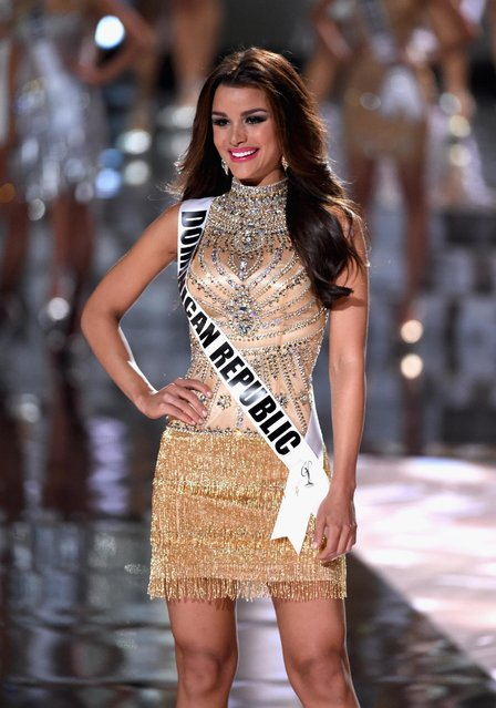 Top 15 contestant Miss Dominican Republic 2015, Clarissa Molina, walks onstage during the 2015 Miss Universe Pageant at The Axis at Planet Hollywood Resort & Casino on December 20, 2015 in Las Vegas, Nevada. (Photo by Ethan Miller/Getty Images)