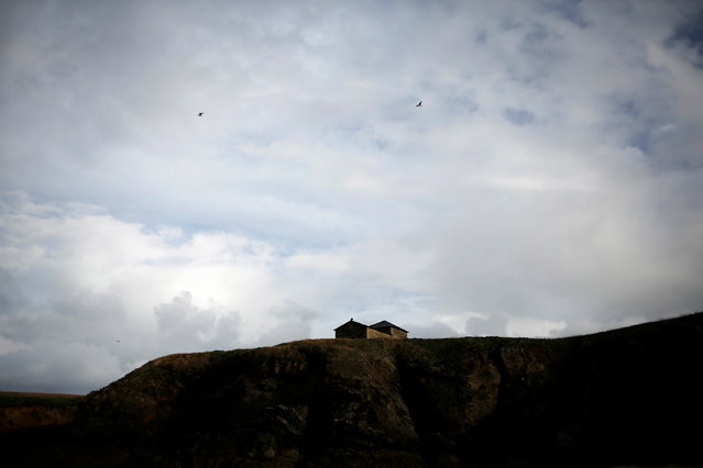 Santa Comba hermitage stands on a hill on the coast of Ferrol, in the northwestern Spanish region of Galicia, December 14, 2016. (Photo by Nacho Doce/Reuters)