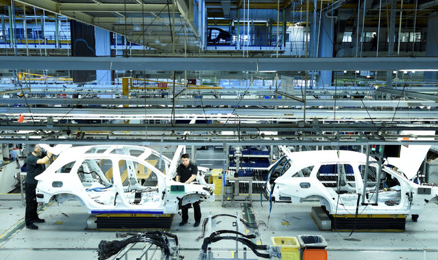 Mercedes-Benz cars are pictured in a production line at the plant of German carmaker Mercedes-Benz in Bremen, Germany January 24, 2017. (Photo by Fabian Bimmer/Reuters)