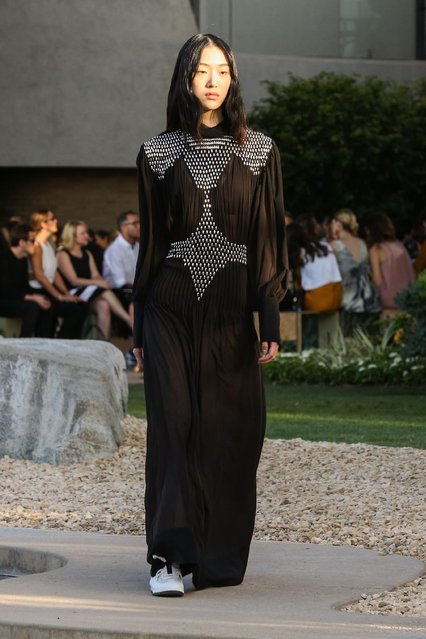 A model walks the runway at the Louis Vuitton Cruise Show at the Bob and Dolores Hope Estate on Wednesday, May 6, 2015, in Palm Springs, Calif. (Photo by Rich Fury/Invision/AP Photo)