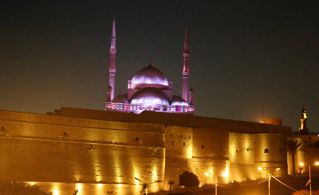Light and decoration are seen at the Saladin Citadel during the opening of 25th Citadel Festival for Music and Singing which is organized by the Cairo Opera House with the participation of artists from different Arab countries in Cairo, Egypt August 18, 2016. (Photo by Amr Abdallah Dalsh/Reuters)