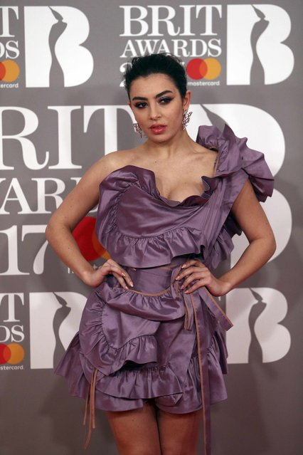 Singer Charli XCX arrives for the Brit Awards at the O2 Arena in London, Britain, February 22, 2017. (Photo by Neil Hall/Reuters)