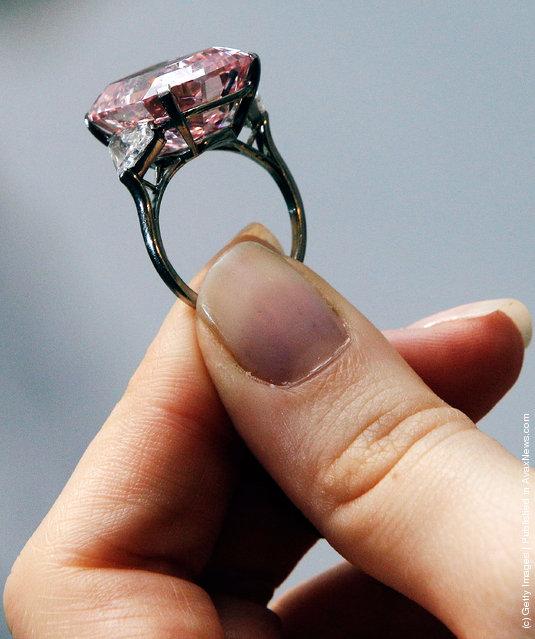 A 24.78 Carat Fancy Intense Pink Diamond, estimated to be worth USD27-38 million