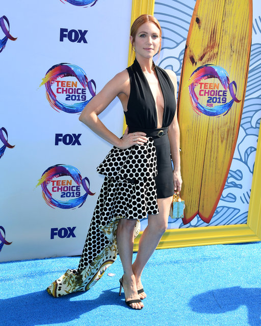 Brittany Snow arrives at the FOX's Teen Choice Awards 2019 on August 11, 2019 in Hermosa Beach, California. (Photo by Steve Granitz/WireImage)