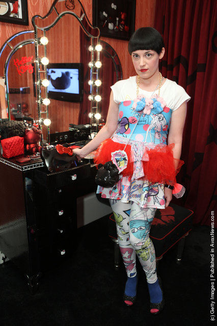 Caro attends The First Ever Hello Kitty Beauty Hotel Suite presented by Sephora
