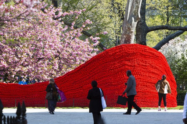 Red, Yellow, and Blue – A Cool Art Installation in Madison Square Park